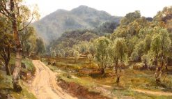 On the Road to Birnam Hill   David Farquharson   Oil Painting