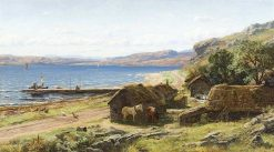 Noon-Day Shelter   David Farquharson   Oil Painting