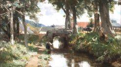 Under the Elms | David Farquharson | Oil Painting