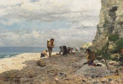 Mussell Gatherers   David Farquharson   Oil Painting