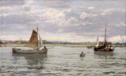 Off Dordrecht   David Farquharson   Oil Painting