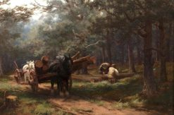 The Timber Wagon | David Farquharson | Oil Painting
