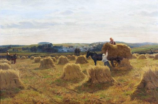 A Harvest Day in Galloway   David Farquharson   Oil Painting