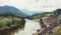 Fishing Pool on the Dee | David Farquharson | Oil Painting