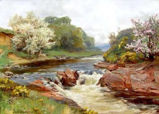 Blossom by the River | David Farquharson | Oil Painting