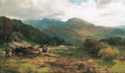 Droving Cattle | David Farquharson | Oil Painting