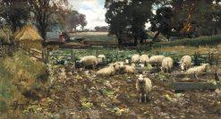 A Winter Feed | David Farquharson | Oil Painting