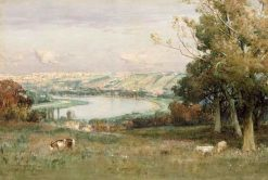 River above Rouen   David Farquharson   Oil Painting