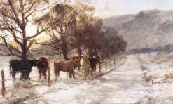 Cattle in Winter | David Farquharson | Oil Painting
