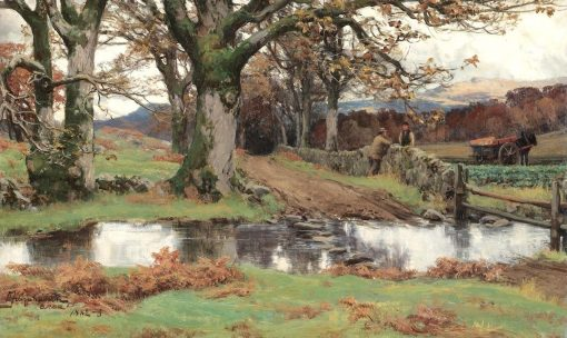 Discussing the Harvest | David Farquharson | Oil Painting