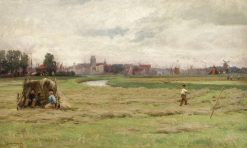 Hay Scene at Dordrecht   David Farquharson   Oil Painting