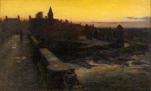 A Scottish City View | Joseph Farquharson | Oil Painting