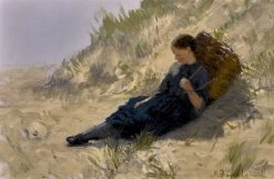 Girl Resting on the Dunes | Joseph Farquharson | Oil Painting