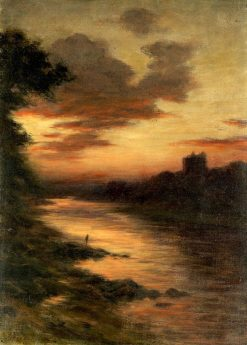 Fishing at Sunset | Joseph Farquharson | Oil Painting