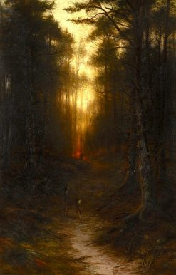 Startled | Joseph Farquharson | Oil Painting