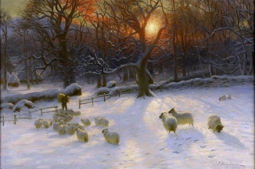 Beneath The Snow Encumbered Branches   Joseph Farquharson   Oil Painting
