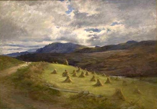 Landscape with Hay   Joseph Farquharson   Oil Painting