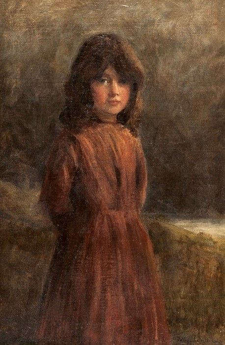 Portrait of a Young Girl   Joseph Farquharson   Oil Painting