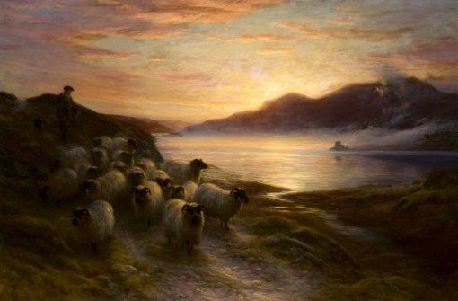 The Charmed Sunset Lingering On | Joseph Farquharson | Oil Painting