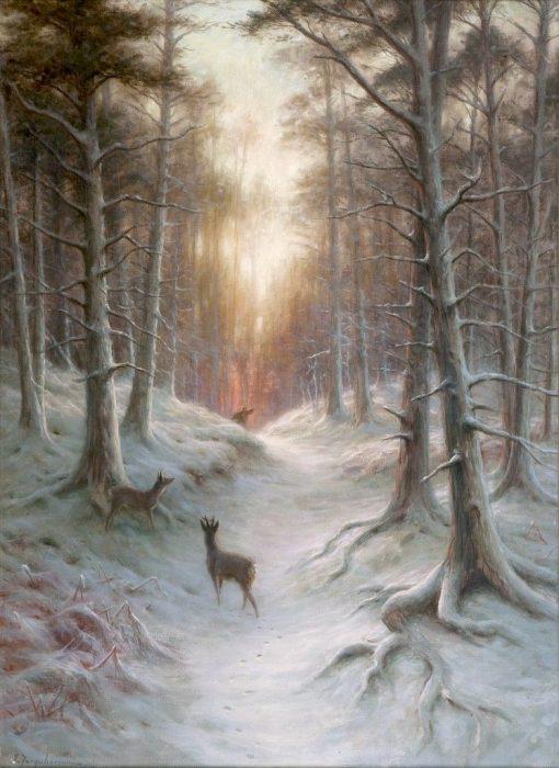 Startled | Joseph Farquharson | Oil Painting