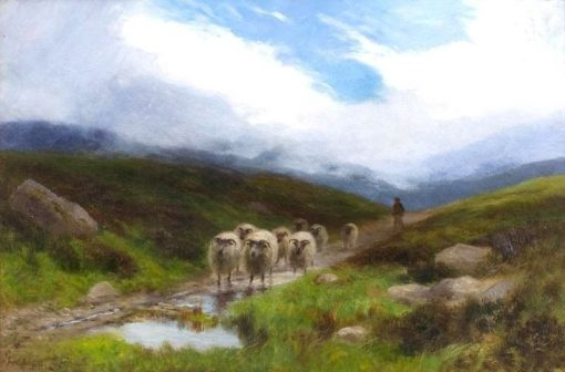 Driving the Flock | Joseph Farquharson | Oil Painting