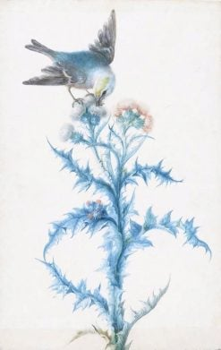 A Bird on a Thistle | Christoph Ludwig Agricola | Oil Painting