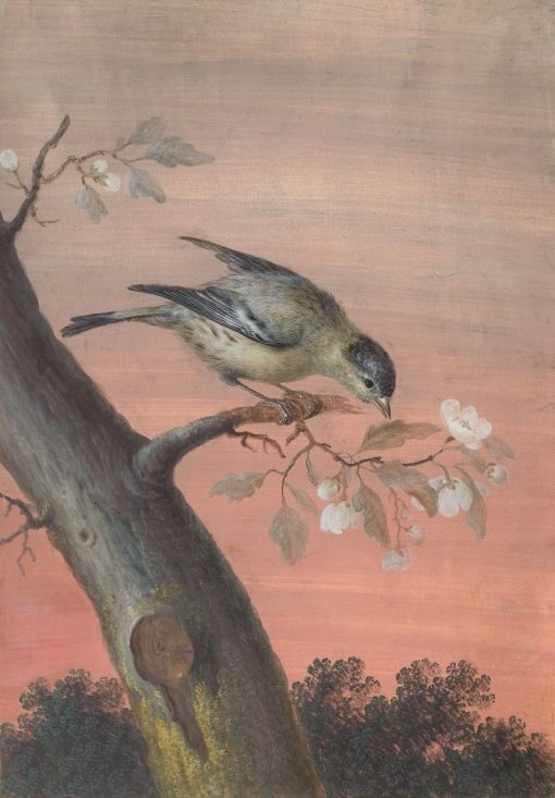 A Sparrow on a Spring Branch | Christoph Ludwig Agricola | Oil Painting