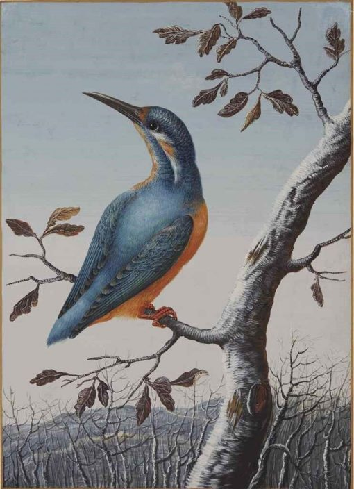 A Kingfisher | Christoph Ludwig Agricola | Oil Painting