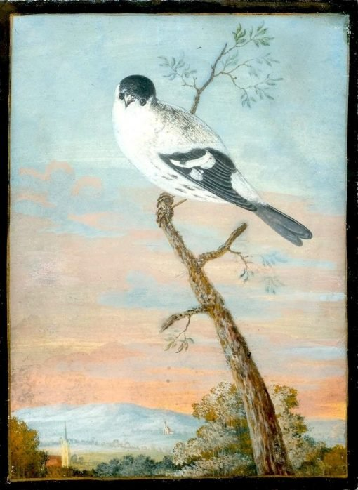 Bird on a Branch before a Landscape | Christoph Ludwig Agricola | Oil Painting