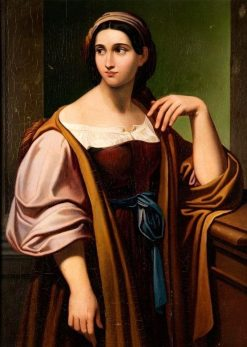 Standing Girl | Karl Joseph Aloys Agricola | Oil Painting