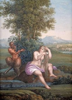 Faun and Nymph | Karl Joseph Aloys Agricola | Oil Painting