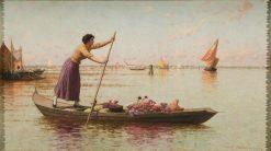 Venetian Market Girl | Walter Blackman | Oil Painting