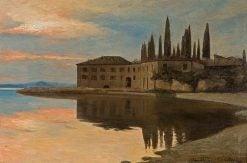 View to San Vigilio at Lago di Garda | Curt Agthe | Oil Painting