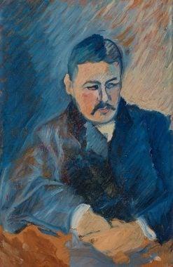 Portrait of a Man in a Blue Suit | Ivan Aguéli | Oil Painting