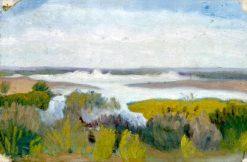 Beach Scene in Trouville | Ivan Aguéli | Oil Painting