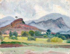 Landscape with Red Rock   Ivan Aguéli   Oil Painting