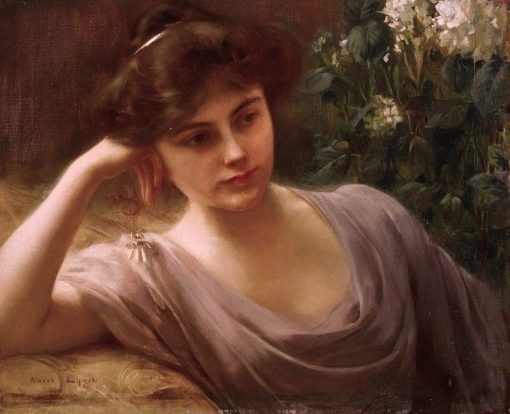 A Young Beauty | Albert Lynch | Oil Painting