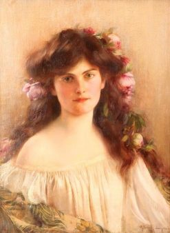 Portrait of a Young Girl | Albert Lynch | Oil Painting