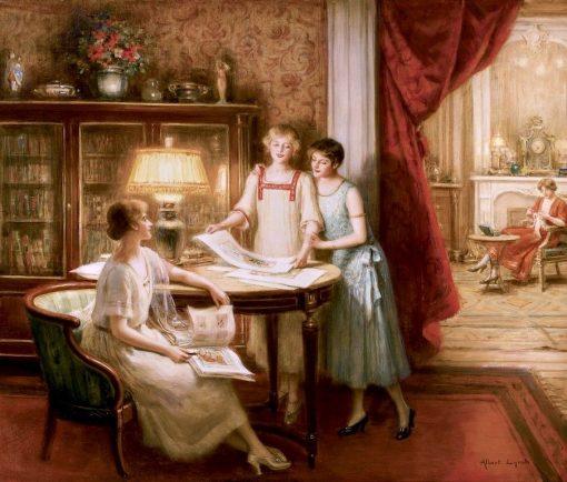 The Print Connoisseurs | Albert Lynch | Oil Painting