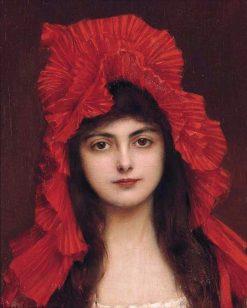 The Red Bonnet | Albert Lynch | Oil Painting