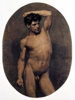 Nude Male. Fighter | Mariàno Fortuny y Marsal | Oil Painting