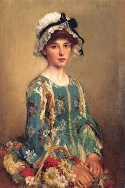 The Flower Girl | Albert Lynch | Oil Painting