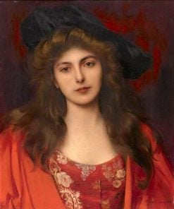 The Red Brocade | Albert Lynch | Oil Painting