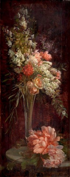 A Still Life of Flowers in a Vase | Ricardo Martí Aguiló | Oil Painting