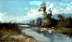Landscape with River | Ricardo Martí Aguiló | Oil Painting