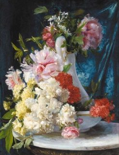 Summer Flowers in a Glass Pitcher and Bowl | Ricardo Martí Aguiló | Oil Painting