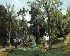 Strolling in the Woods on a Summer Day | Johannes Evert Hendrik Akkeringa | Oil Painting