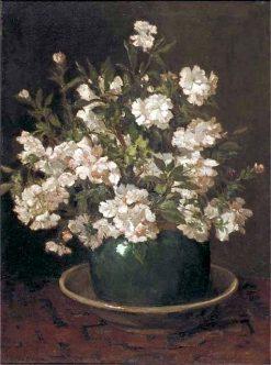 Azalea in an Earthenware Pot | Johannes Evert Hendrik Akkeringa | Oil Painting
