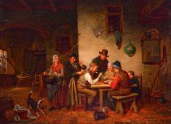 The Porridge Eaters | Jacob Akkersijk | Oil Painting