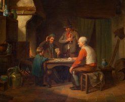 The Card Players | Jacob Akkersijk | Oil Painting